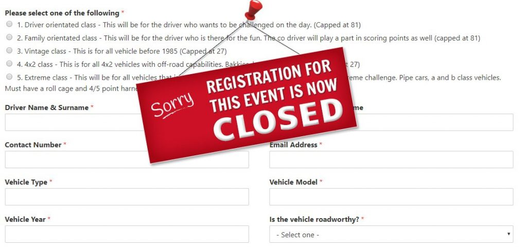 registrationis now closed
